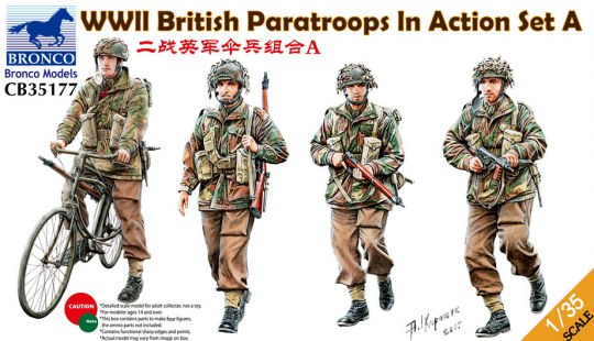 Bronco Models - WWII British Paratroops In Action Set A