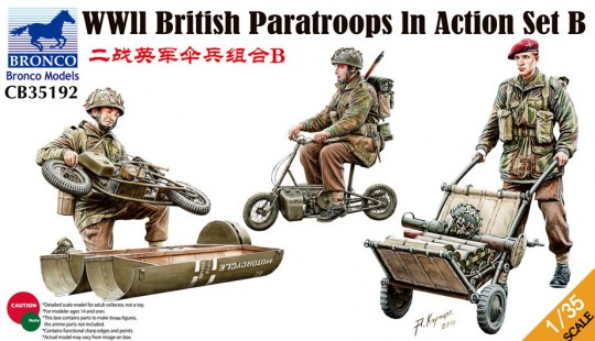 Bronco Models - WWII British Parattroops In Action Set B