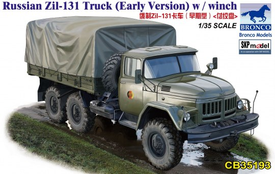 Bronco Models - Russian Zil-131 Truck (Early Version) w/winch