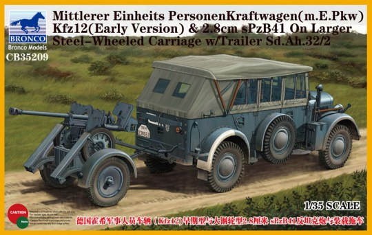 Bronco Models - Mittlerer Einheits PersonenKraftwagen (m.E.PKW)Kfz12(Early Version)&2,8cmSPz