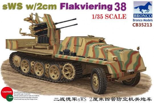 Bronco Models - sWS w/2cm Flakviering 38