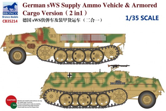 Bronco Models - German sWS Supply Ammo Vehicle & Armored Cargo Version (2 in 1)