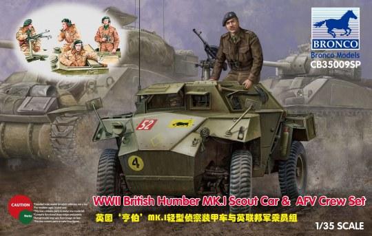 Bronco Models - WWII British Humber MK.I Scout Car & AFV Crew Set