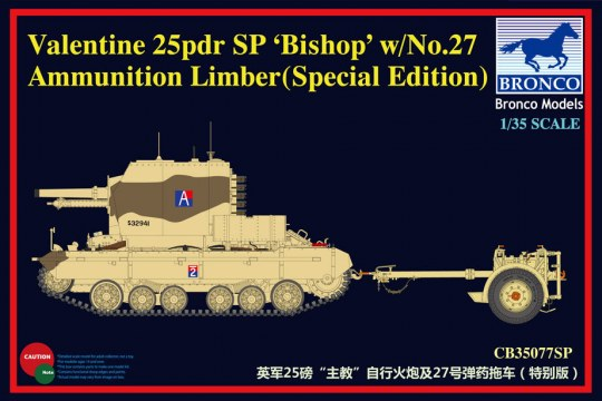 Bronco Models - Valentine SPG Bishop w/No.27 Limber