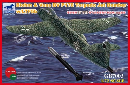 Bronco Models - Blohm & Voss BV P178 Torpedo Jet Bomber w/LTF5b Torpedo