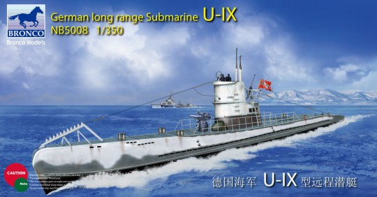 Bronco Models - German Long Range Submarine Type U-IX A