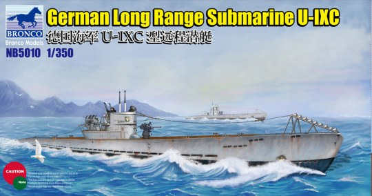 Bronco Models - German Long Range Submarine Type U-IXC