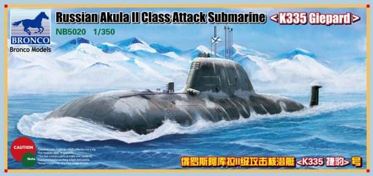 Bronco Models - Russian Akula II Class Attack Submarine `K335 Giepard'
