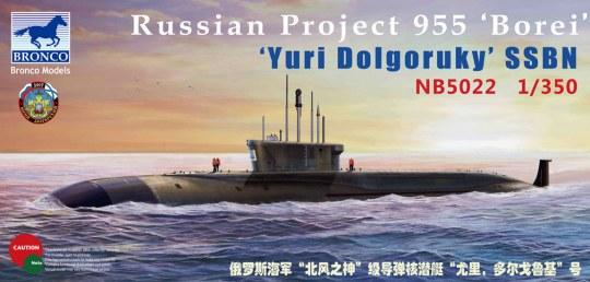 Bronco Models - Russian Project 955'Borei'Yuri Dolgoruky SSBN