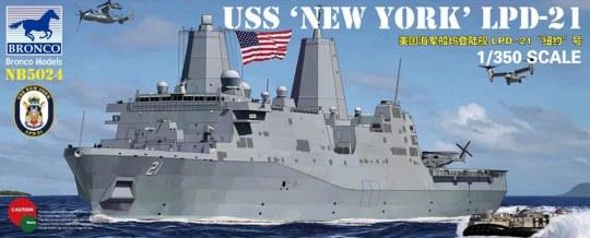 Bronco Models - USS LPD-21'New York'
