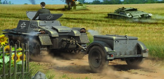 Hobby Boss - Munitionsschlepper auf Panzerkampfwagen I Ausf A with Ammo Trailer
