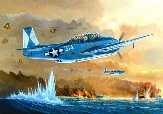 Hobby Boss - TBM-3 Avenger Torpedo Bomber