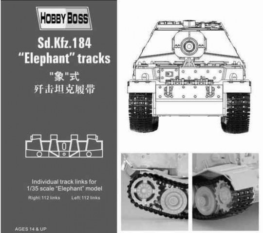 Hobby Boss - Sd.Kfz 184 ''Elephant'' tracks