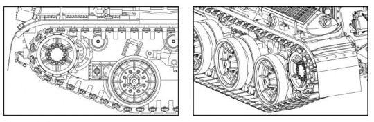 Hobby Boss - AMX-30B2/AU-F1 Workable Tracks