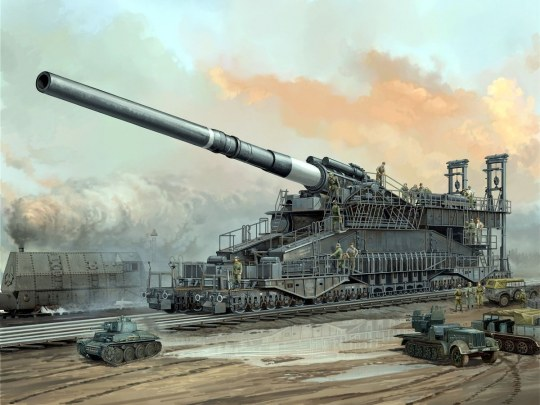 Hobby Boss - German 80cm K(E) railway gun Dora