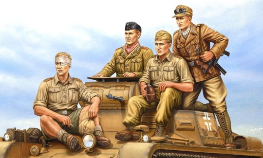 Hobby Boss - German Tropical Panzer Crew