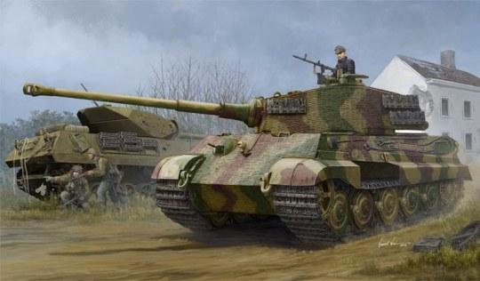 Hobby Boss - Pz.Kpfw.VI Sd.Kfz.182 Tiger II (Henschel 1944 Production) w/Zimmerit