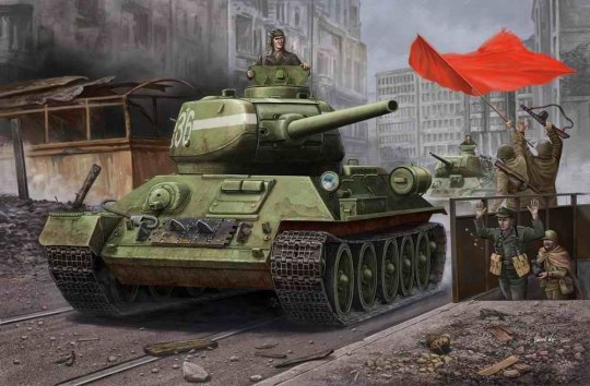 Hobby Boss - RussianT-34/85(1944 angle-jointed turret) tank