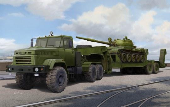 Hobby Boss - Ukraine KrAZ-6446 Tractor w.MAZ/ChMZAP- 5247G semitrailer