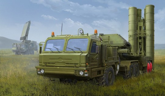 Hobby Boss - Russian BAZ-64022 with 5P85TE2 TEL S-400