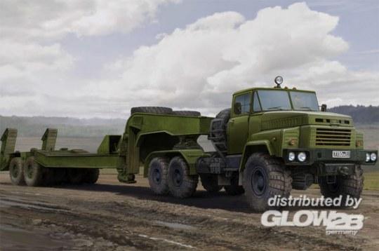 Hobby Boss - Russian KrAZ-260B Tractor with CMAZ/ChMZAP-5247G semitrailer