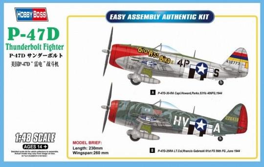 Hobby Boss - P-47D Thunderbolt Fighter
