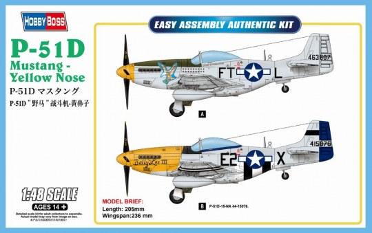 Hobby Boss - P-51D Mustang-Yellow Nose