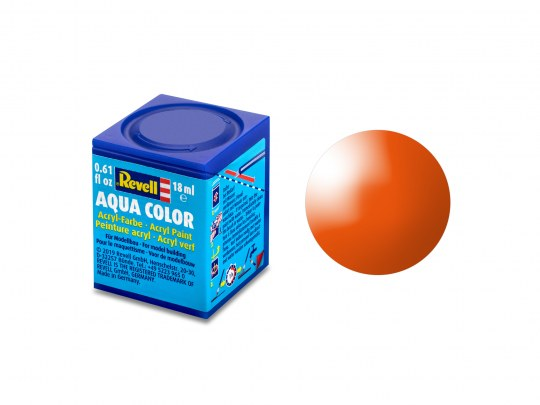Aqua Color Orange brillant, 18ml