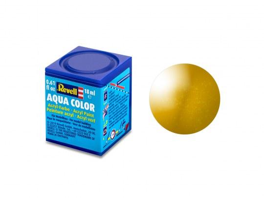 Aqua Color, Brass, Metallic, 18ml