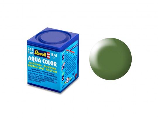 Aqua Color, Green, Silk, 18ml