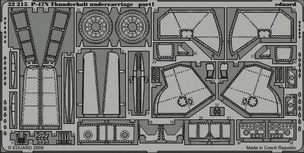 Eduard - P-47N Thunderbolt undercarriage für Trumpeter Bausatz