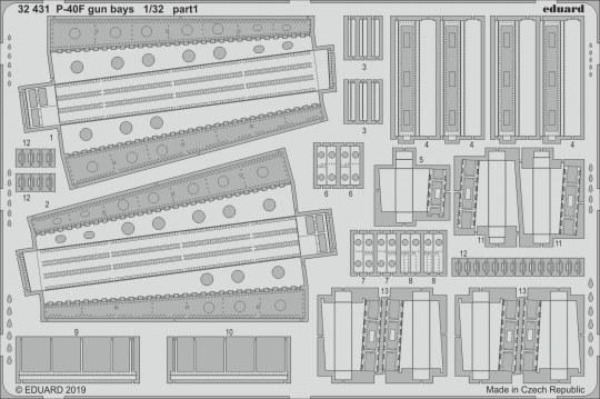 Eduard - P-40F gun bays for Trumpeter