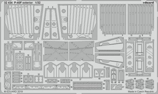 Eduard - P-40F exterior for Trumpeter