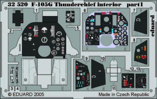 Eduard - F-105G Thunderchief Interior für Trumpeter Bausatz