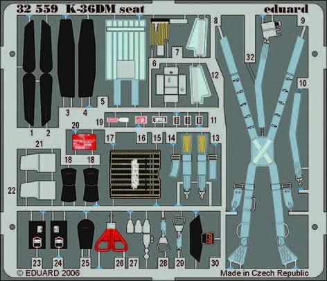 Eduard - MiG-29 Fulcrum K-36DM seat für Trumpeter Bausatz