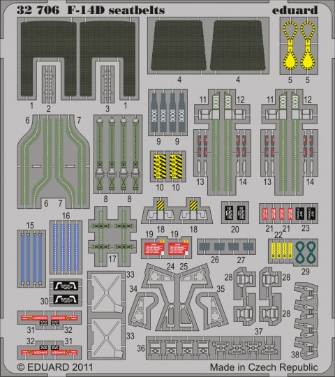 Eduard - F-14D seatbelts for Trumpeter