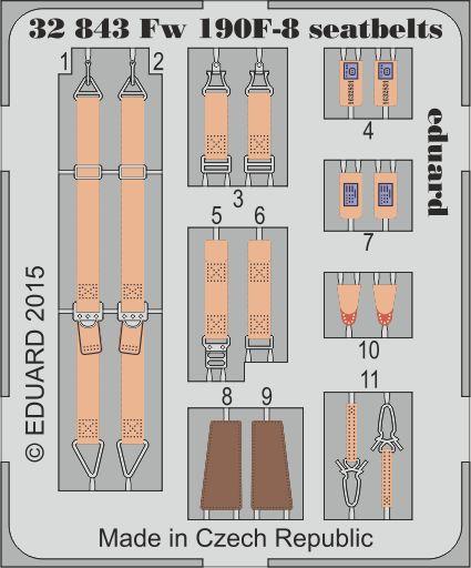 Eduard - Fw 190F-8 seatbelts for Revell