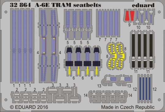 Eduard - A-6E TRAM seatbelts for Trumpeter