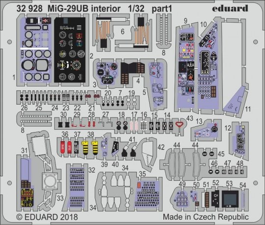 Eduard - MiG-29UB interior for Trumpeter