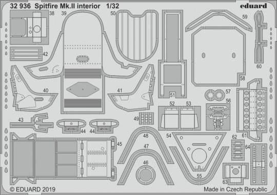 Eduard - Spitfire Mk.II interior for Revell