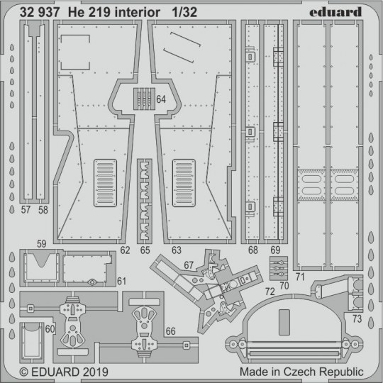 Eduard - He 219 interior for Revell