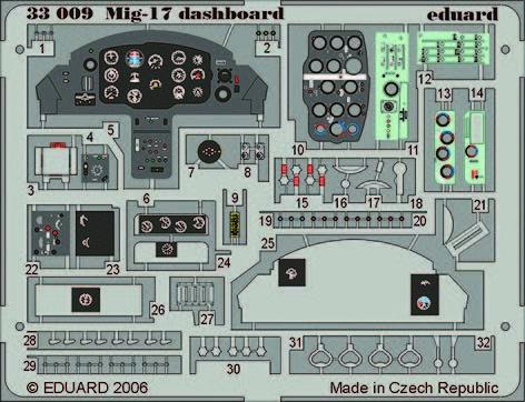 Eduard - Mig-17 dashboard Für Trumpeter Bausatz