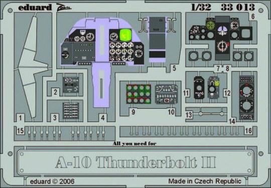 Eduard - A-10 Thunderbolt II dashboard für Trumpeter-Bausatz