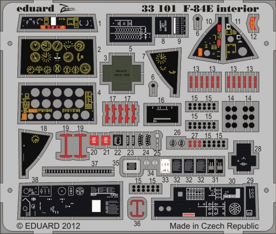 Eduard - F-84E interior S.A. for Hobby Boss