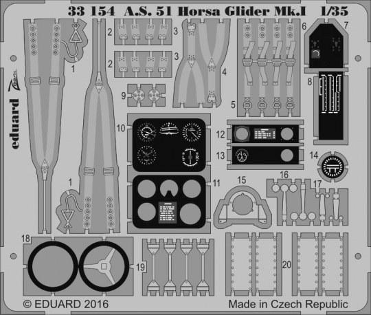 Eduard - A.S. 51 Horsa Glider Mk.I for Bronco Mod