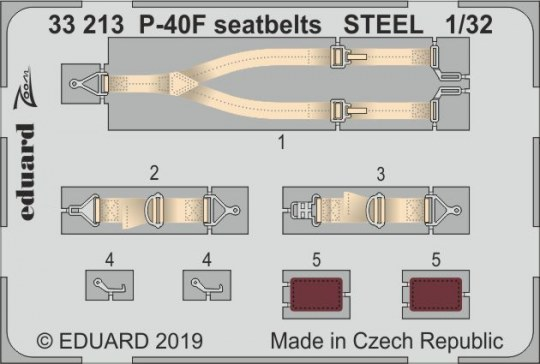 Eduard - P-40F seatbelts STEEL for Trumpeter