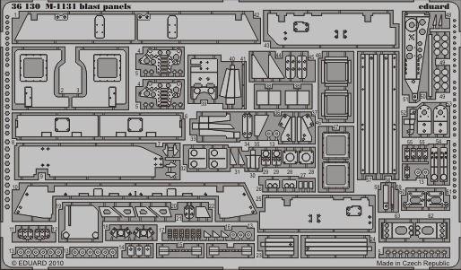 Eduard - M-1131 blast panels for Trumpeter