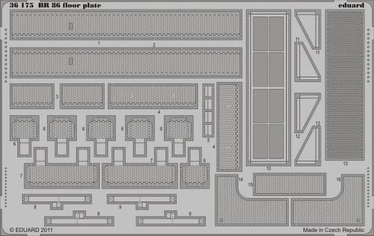 Eduard - BR 86 floor plate for Trumpeter