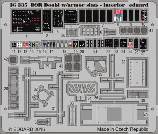 Eduard - D9R Doobi w/armor slats-interior f.Meng