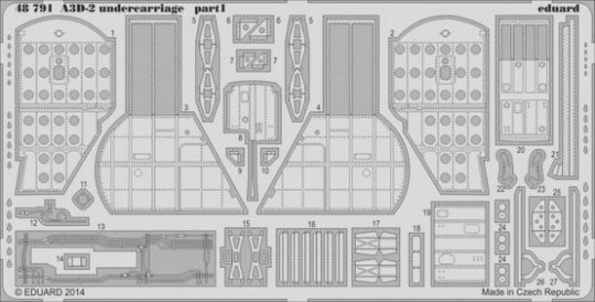 Eduard - A3D-2 undercarriage for Trumpeter